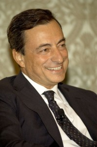 Mario Draghi on the Dinner Panel at the Ritz Carlton